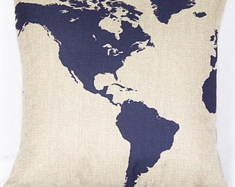 Map cushion Cover, pillow cover