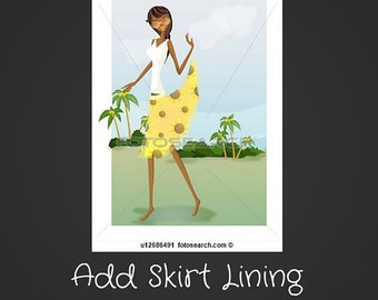 Add On Item-Add a Lining to Any Skirt or Shorts Listing