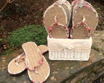Wedding or Party Guest Basket of Flip Flops- 10 pairs