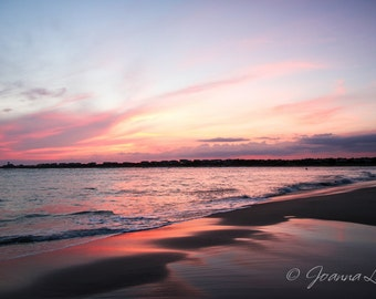 Oak Island NC Sunset - Print, Canvas Gallery Wrapped Print