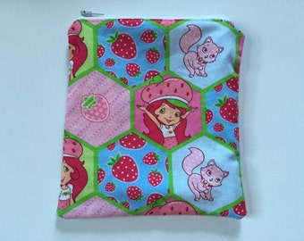 Strawberry Shortcake Reusable snack bag, sandwich bag etc...