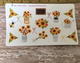 Fall Sunflower Stickers