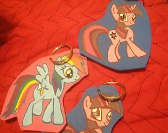My Little pony leather key chain