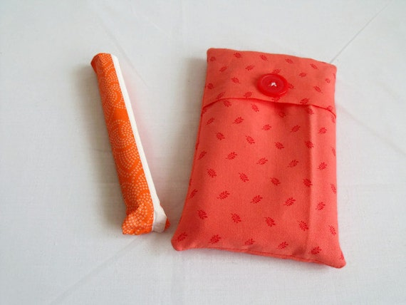 tampon holder, tampax case, folded fabric pouch, discreet feminine hygiene holder, choose your colour