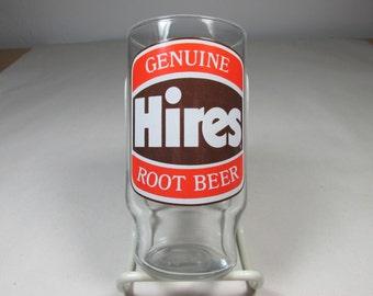 Hires Root Beer Glass Vintage Advertising Glass Soda Pop Memorabilia Root Beer Collectable Glass Vintage Glass