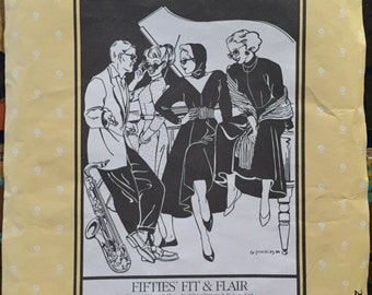 Folkwear pattern # 241 1950's fit & flair uncut and complete