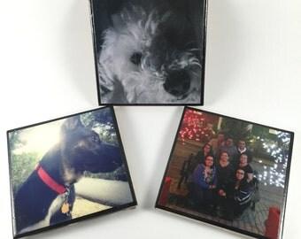 4pc Custom Photo Tile Coasters