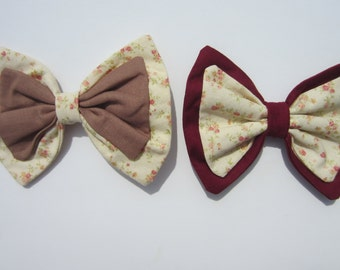 Floral Cream Lolita Hair Bows