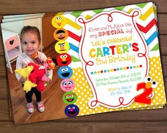 Sesame Street Invitation, Sesame Street Birthday Invitation