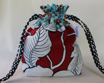Bold Flower Project Bag