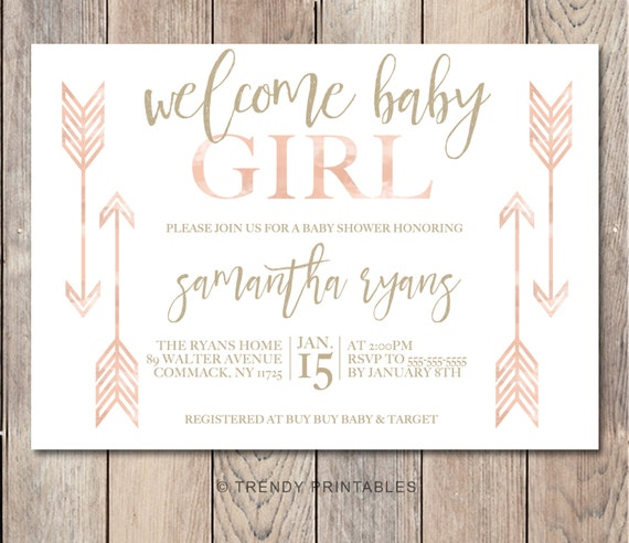 baby shower invitation boho baby shower invitations girl baby shower