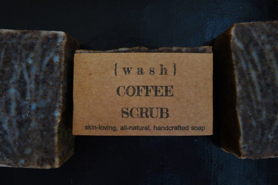 Coffee Scrub Soap, coffee soap, anti aging, cruelty free, exfoliating bar, coffee lover, spa soap, unscented, cold process, natural skincare