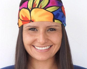 Aloha | Fitness Headband | Yoga Headband | Gym Headband | Workout Headband | Wide Headband | Runners | Buy 4, Get 1 Free! | Sweatband