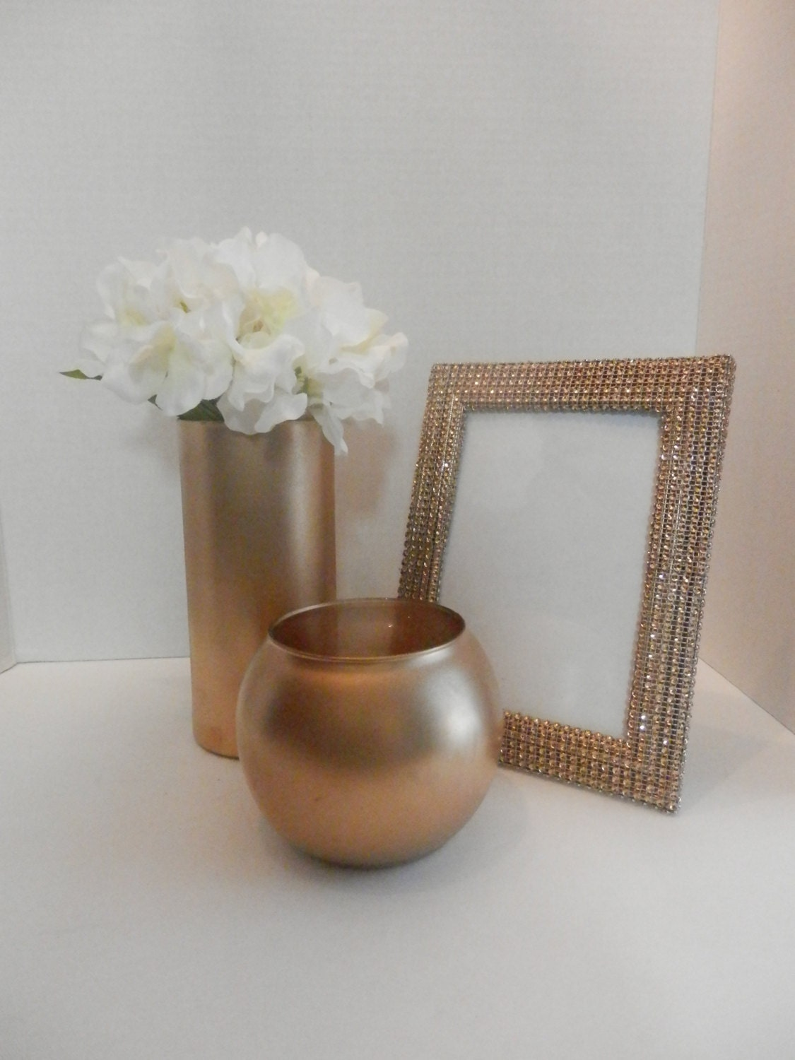 Wedding centerpiece gold picture frame by