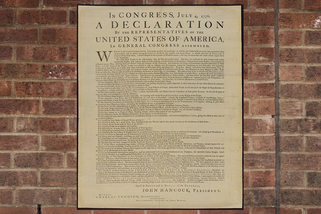 This is a picture of Impertinent Printable Copy of the Declaration of Independence