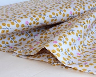 Berries in Gold - Sweet Autumn Day by Little Cube for Cloud 9 Organic Fabric