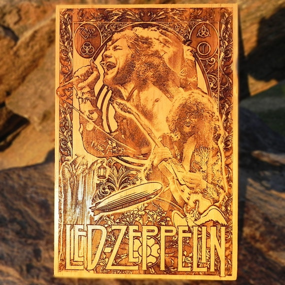 Led zeppelin poster wedding anniversary gift by