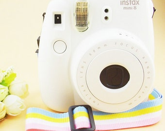 Fujifilm Instax Mini Strap Polaroid Camera Strap Light Pastel Stripe Pink