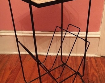 On Sale Vintage Retro Mid Century Wire Metal telephone smoke Stand SIDE TABLE