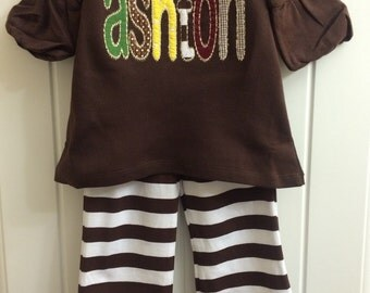 Personalized Appliqued Ruffle Fall Outfit