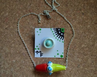 Accessory Combo- Necklace, Pin