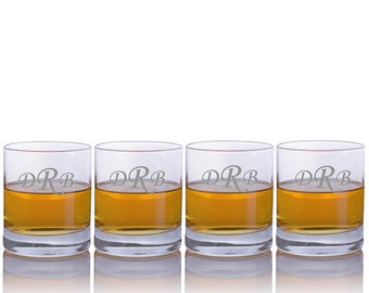 Personalized Engraved Crystal Whiskey Tumblers by Crystalize - Free Shipping