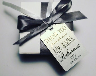 Wedding Thank You Tags -Personalized Wedding Favor Tags- the new Mr. & Mrs