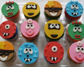 Yo Gabba Gabba Edible Cupcake Toppers - 1 Dozen