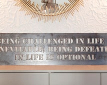 """QUOTE, Get your favorite quote cut out of steel, CNC Plasma cutting, American made steel, 48"""" wide and 15"""" tall"""