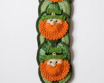 St Patrick's Day CROCHET PATTERN instant download -  Leprechaun Wall Hanging, Wall Decor, St Patty's Decoration
