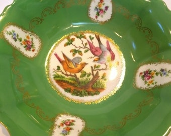 Transferware Bowl with Bird Scene