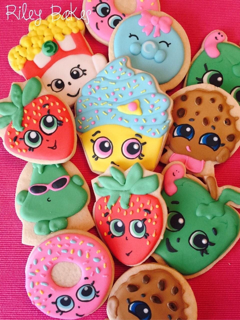 Shopkins cookies shopkins party shopkins birthday party - Shopkins pics ...