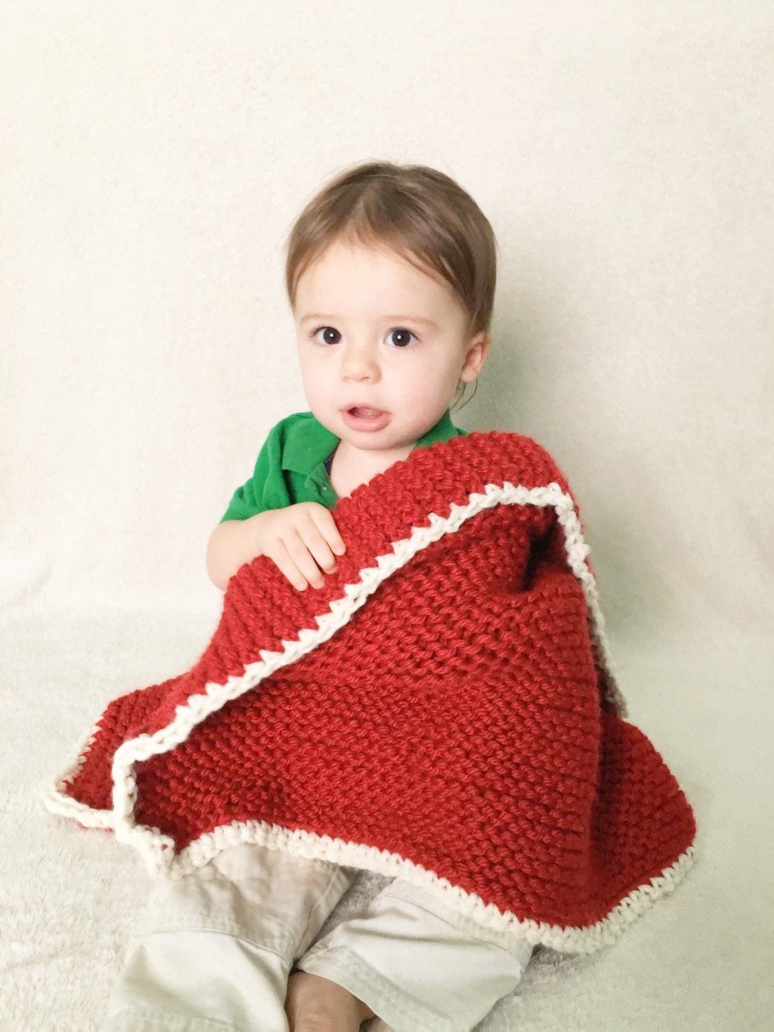 Knitting Edges For Baby Blankets : Knit baby blanket with crochet edging newborn by fibers