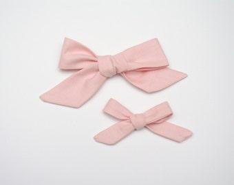 pink hair bow, newborn headband, school girl hair bow, baby headband, baby hair bow, girl hair bow