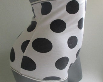 plus size high waisted lingerie big polka dots bamboo panties ladies retro dots underwear plus size vintage look undies high waist knickers