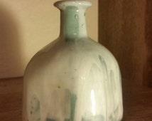 Blue Marbled Porcelain Patron Bottle/Vase