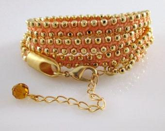 Gold Chain Wrap Bracelet, Chain Bracelet, Chain Wrap Bracelet, Chain Bracelet Gold, Wrap Bracelet, Wrap Bracelet Gold, Chain Bracelet Wrap