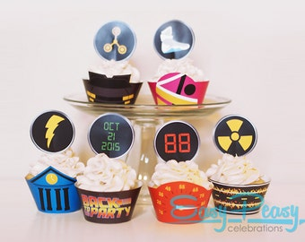Back To The Future (Inspired) Cupcake Set