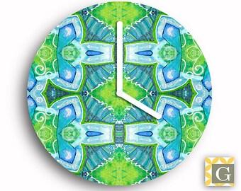 Wall Clock by GABBYClocks -  Abstract Painting No. 2