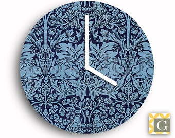 Wall Clock by GABBYClocks -  Blue Forest