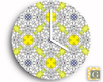 Wall Clock by GABBYClocks - Hennie Chrysanthemum