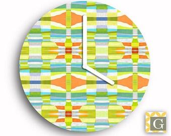 Wall Clock by GABBYClocks - Sunshine Fractal Petite No. 2