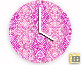Wall Clock by GABBYClocks - Pink Flurry