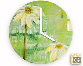 Wall Clock by GABBYClocks - Sunlit Daisy No. 3
