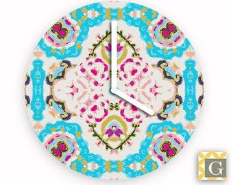 Wall Clock by GABBYClocks - Turquoise Window No. 1