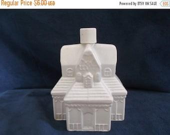 Summer Sale 25% Avon White Farm House Decanter Bottle