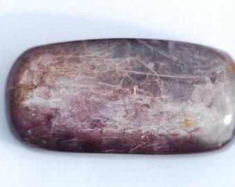 Lepidolite Cabochon,  rectangular , light purple or lavender 35 x17mm, Lepidolite Mica