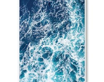Scandinavian Oceans Unframed Print Poster Art Canvas - minimalist scandinavian art - Beach Waves Ocean Water Blue Art