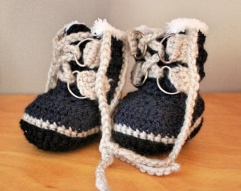 Crochet Baby Expedition Boots
