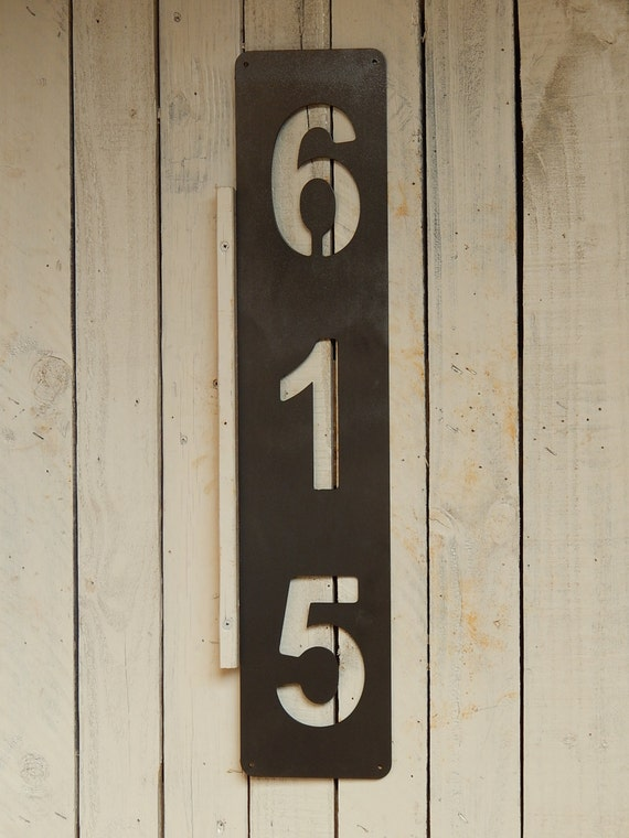 Vertical House Number Metal Number Door Number Metal